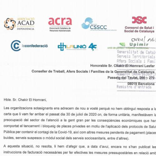 Carta conjunta al Conseller de TASiF