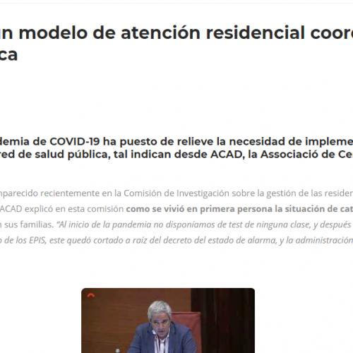ACAD aboga por un modelo de atención residencial coordinado con la red de salud pública