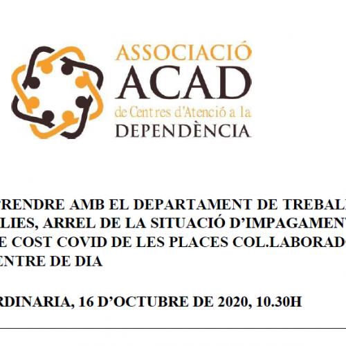 ACAD no accepta el silenci de l'administració davant l'incompliment en els terminis de pagament