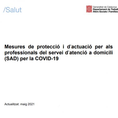Mesures de protecció i d'actuació per alsprofessionals del servei d'atenció a domicili(SAD) per la COVID-19