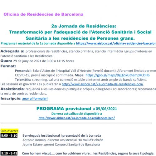 Oficina de residències de Barcelona: 2a Jornada de Residències