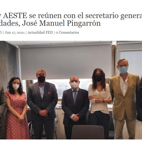 La FED i AESTE es reuneixen amb el secretari general d'Universitats, José Manuel Pingarrón